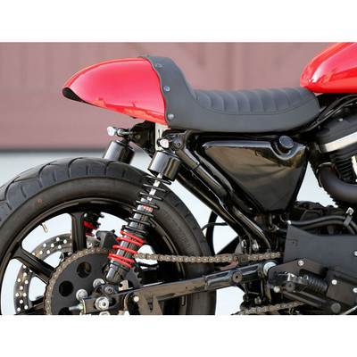 Burly Cafe Solo Seat/Tail Section for Harley Sportster