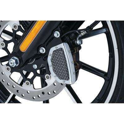 Kuryakyn Mesh Front Brake Caliper Cover for 2015-2017 Harley Softail
