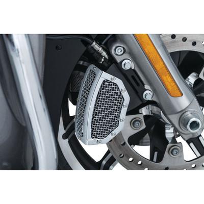 Kuryakyn Mesh Front Brake Caliper Covers for 2008-2017 Harley Touring