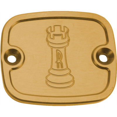 Rooke Customs Front Master Cylinder Cover for 1996-2008 Harley Big Twin - Gold