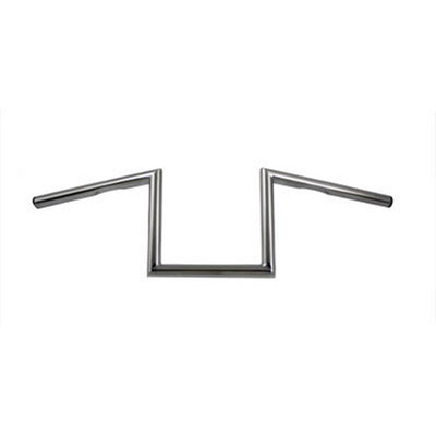"V-Twin 1"" Chrome 8"" Z-Bars Handlebars - Dimpled"