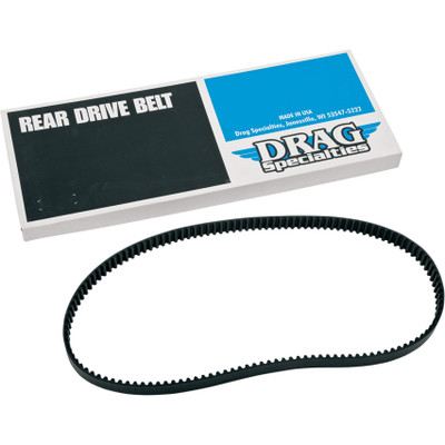 "Drag Specialties 1-1/8"" Rear Drive Belt 128 Tooth for Harley - Repl. OEM #40022-91"