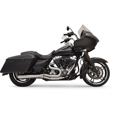 Bassani Road Rage III Stainless 2-Into-1 Exhaust System for 1995-2006 Harley Touring