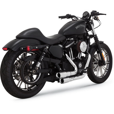 Vance & Hines Mini Grenades 2-Into-2 Exhaust for 2004-2017 Harley Sportster - Chrome