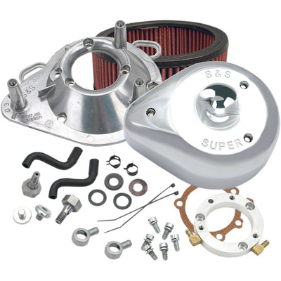 S&S Teardrop Air Cleaner Kit for 2001-2017 Harley Stock EFI Big Twin (except Throttle By Wire and CVO®) - Chrome