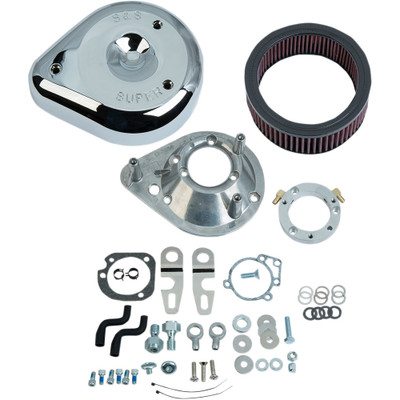 S&S Teardrop Air Cleaner Kit for 2007-2017 Harley Sportster with Stock EFI - Chrome