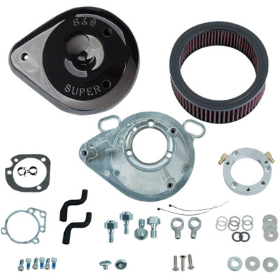 S&S Teardrop Air Cleaner Kit for 2001-2017 Harley Stock EFI Big Twin (except Throttle By Wire and CVO®) - Gloss Black