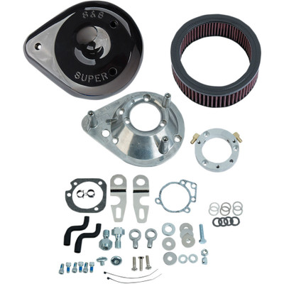 S&S Teardrop Air Cleaner Kit for 2007-2017 Harley Sportster with Stock EFI - Gloss Black