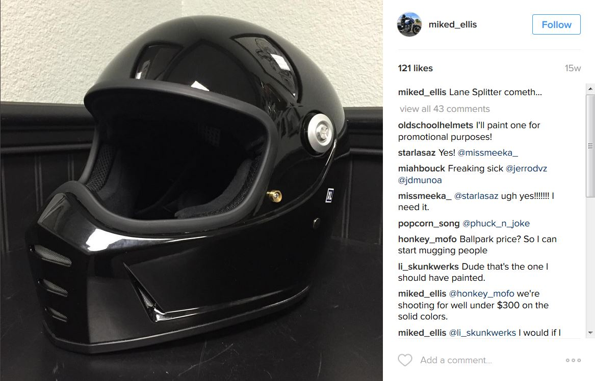 Biltwell Lane Splitter Helmet To Be Released In 2016 Get