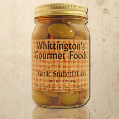 Whittington's Gourmet Foods - Garlic Stuffed Olives