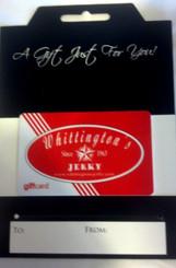 Whittington's $75.00 Gift Card