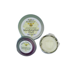 Our 4 oz. Mini tin is a great way to sooth dry skin areas such as feet, elbows, knees, cuticles. Blended coconut oil, cocoa butter and shea butter combat dry cracked skin. Get it now in our famous Marshmallow fluff scent!  (shown is the 4oz tin and the 2oz tin)