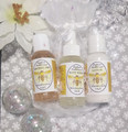 3 oz. Trial Size of Marshmallow Fluff Lotion, Body Spray and Shower Gel in one convenient set.
