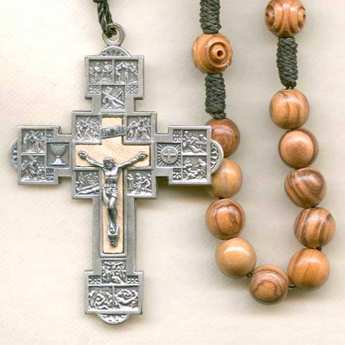 Stations of the cross rosary, cord rosary, knotted cord