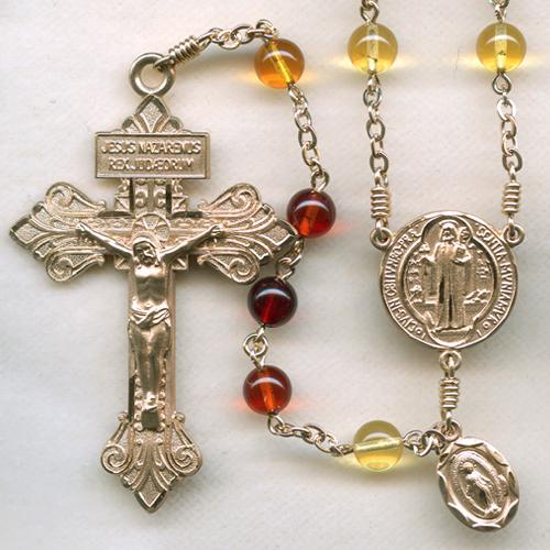Baltic amber rosary