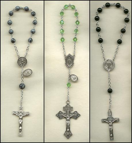 custom, one decade rosary, 1 decade rosary, rosaries