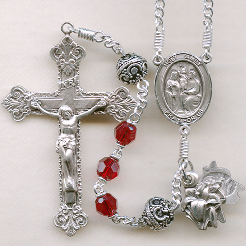 Ruby crystal rosary, ruby rosary