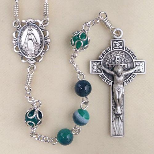 Feminine Rosary, green rosary