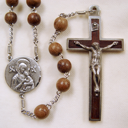Our Lady of Perpetual Help Rosary, wood rosary