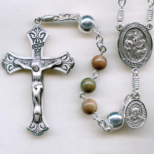 Stone rosary, rhyolite