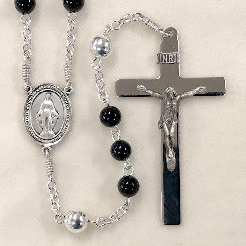 masculine rosary, black rosary
