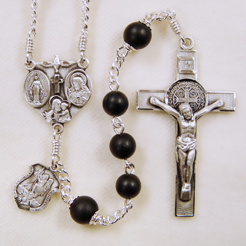 Rosary for Men, Black Onyx
