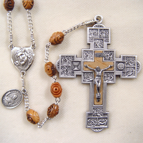 Holy Land Olive Wood Rosary