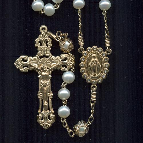 custom pearl rosary