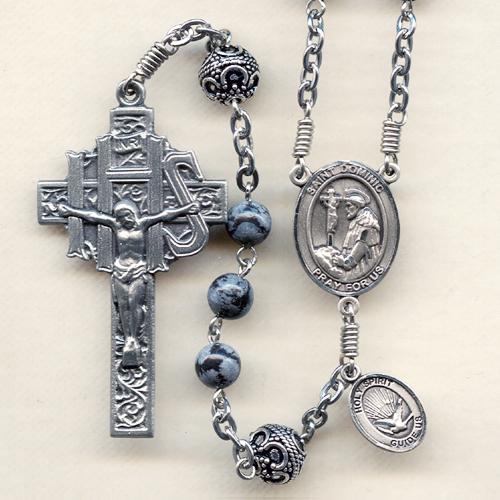 Snowflake Obsidian Rosary
