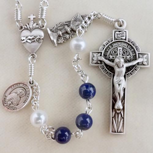 lapis rosary, real lapis