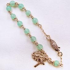 Chrysoprase Rosary Bracelet
