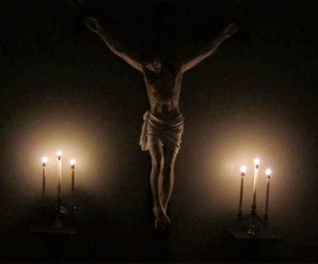 crucifix, crucifixion, choir