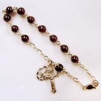 garnet rosary bracelet
