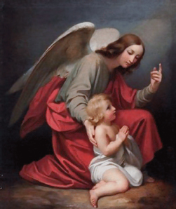 Guardian angel, with boy