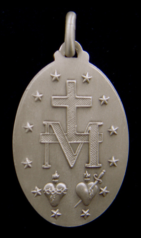 Miraculous medal, back of the miraculous medal