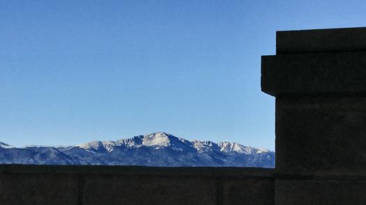 pikes peak, mountian range, carmelite monastery, colorado