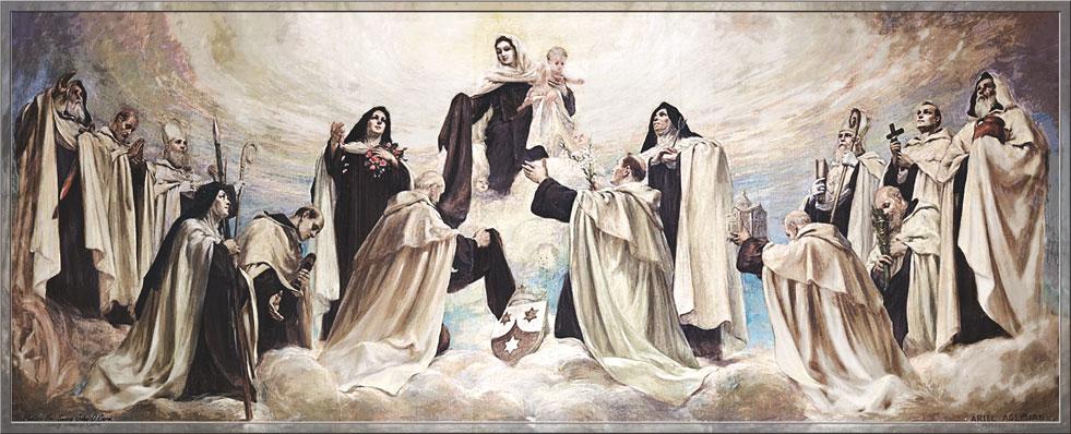our lady of mount carmel, carmelite saints