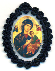 Our Lady or Perpetual Help Relic Badge
