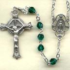 Emerald Austrian Crystal Rosary