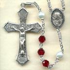 Ruby Crystal Rosary