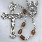 Topaz Faceted Glass Rosary