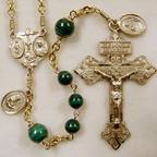 malachite rosary, green rosary