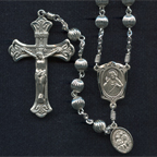 Corrugated Sterling Silver Rosary