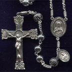 Large Sterling Silver Rosary