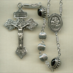 Fancy Sterling Silver Rosary