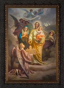 St. Joseph, patron of the universal church, framed pring