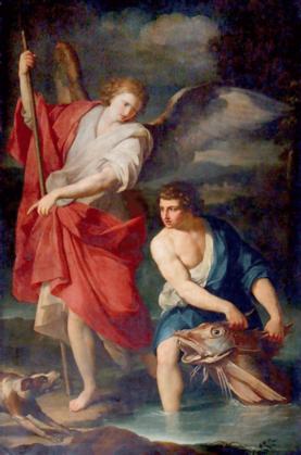 St. Raphael the Archangel, tobias, fish