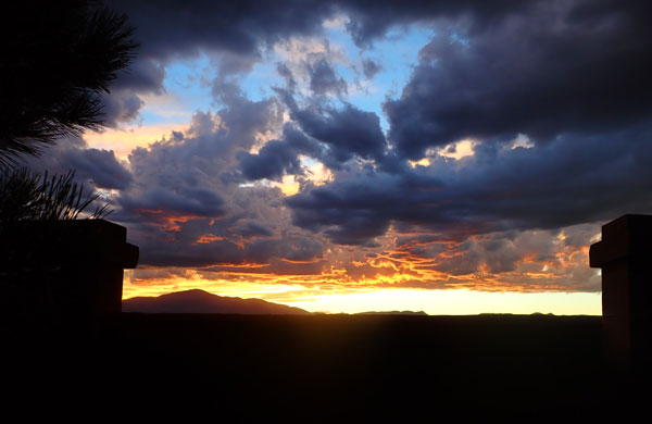 sunset, pikes peak