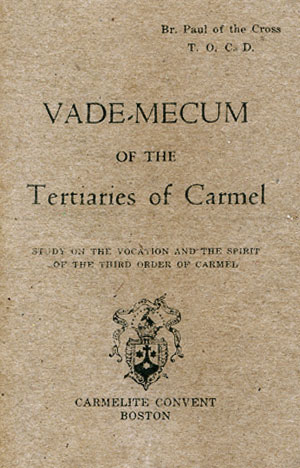 Vade Mecum of the Tertiaries of Carmel