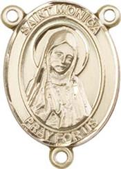"St. Monica  - .75"" Oval - Gold Filled Centerpiece"
